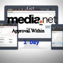 Get media.net approval