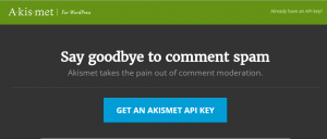 get an akismet api key