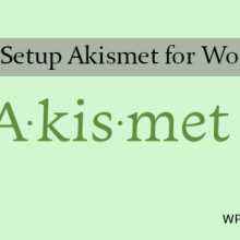 How to Setup Akismet Plugin for WordPress