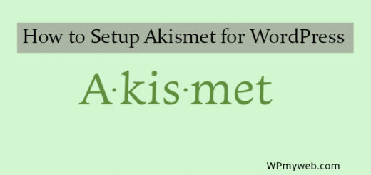 How to Setup Akismet Plugin for WordPress