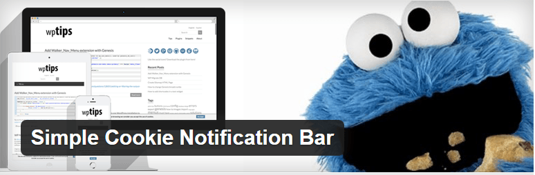 Simple Cookie Notification Bar