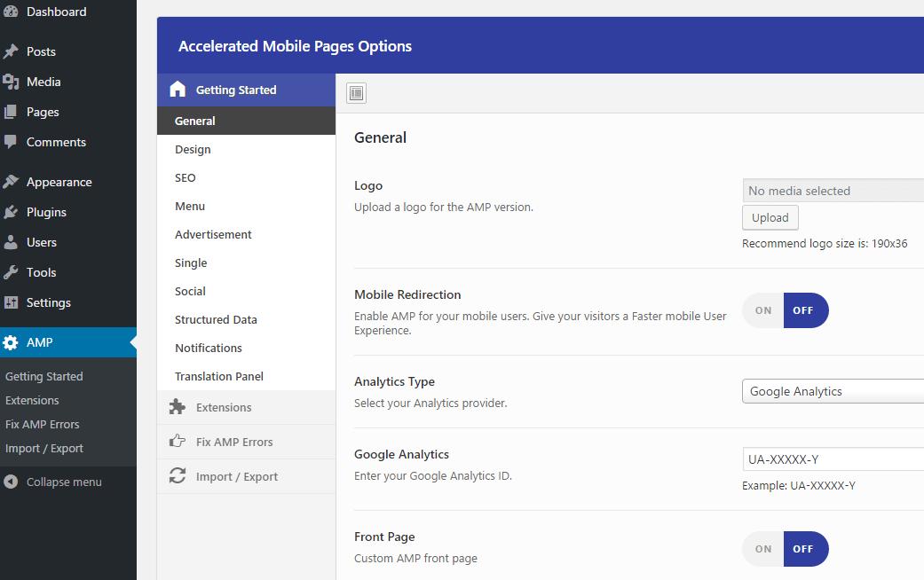 AMP for WP customization