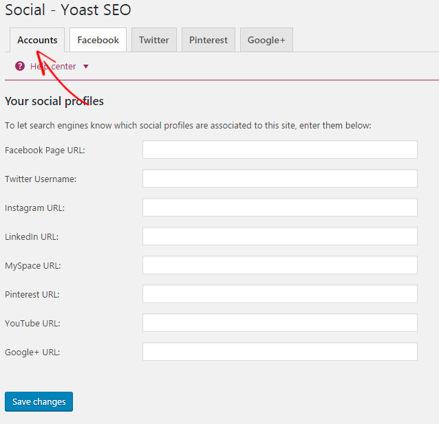 Yoast Social Accounts