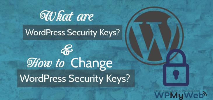 Change WordPress Security Keys