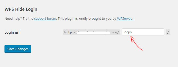 WPS Hide Login URL
