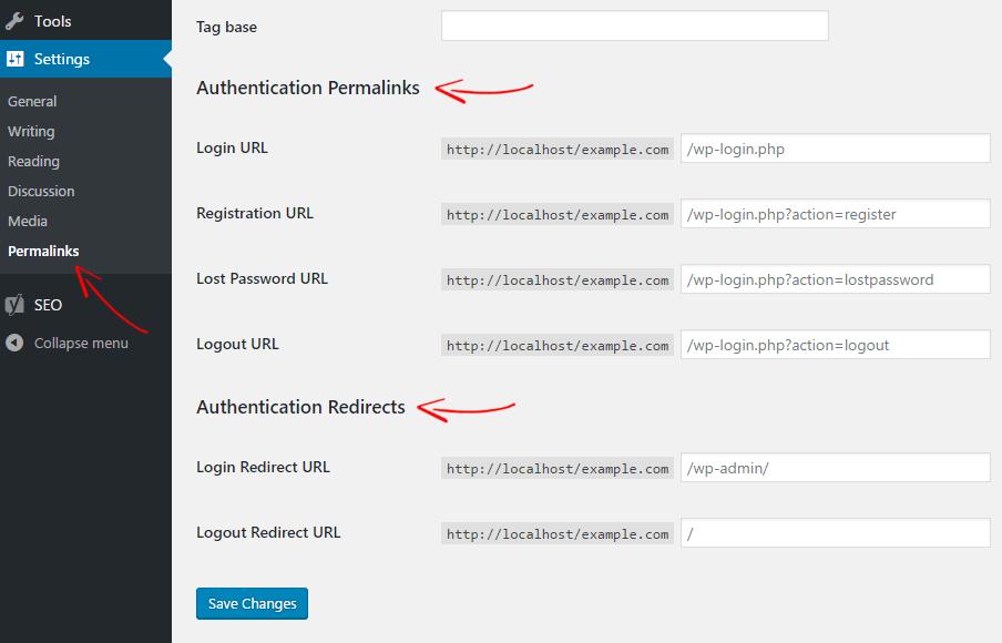 WordPress Custom Login URL
